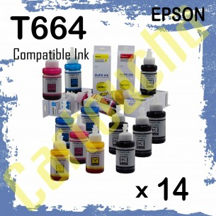 Pack 14 Flacons Encre...